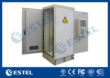 Anti Corrosion Powder Coated Thermostatic Outdoor Telecom Cabinet With Front Rear Access